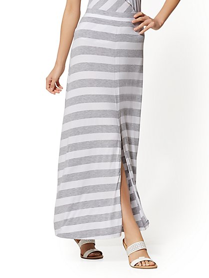 Soho Street - Stripe Maxi Skirt - New York & Company