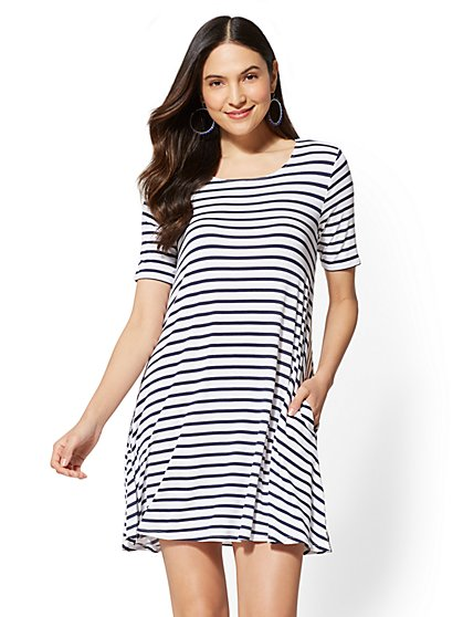 Soho Street - Stripe Swing Dress - New York & Company