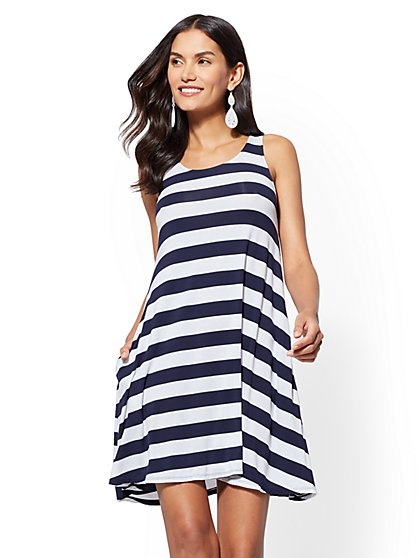 Soho Street - Striped Swing Dress - New York & Company