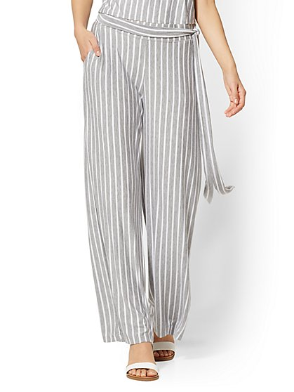 Soho Street - Striped Wide-Leg Pull-On Pant - New York & Company