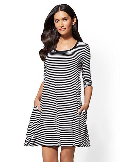 Soho Street - Swing Dress - Stripe - New York & Company