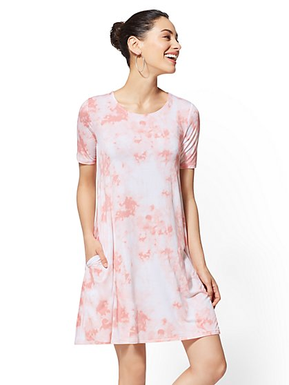 Soho Street - Tie-Dye Shift Dress - New York & Company