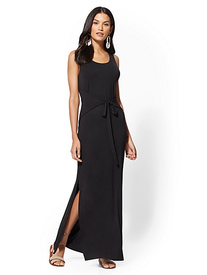 Soho Street - Tie-Front Maxi Dress - New York & Company