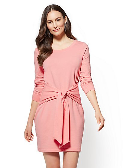 Soho Street - Tie-Front Shift Dress - New York & Company ...