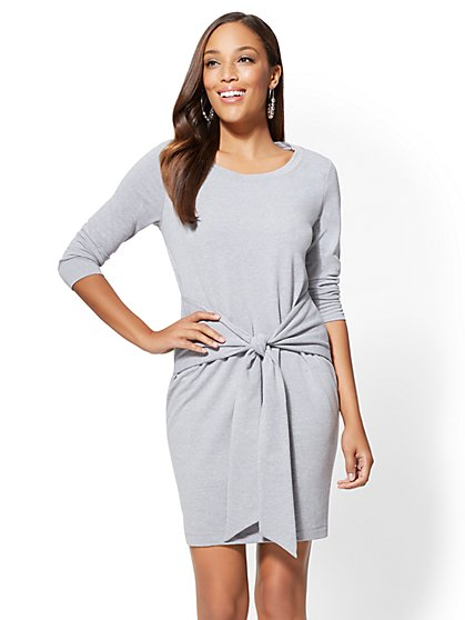 Soho Street - Tie-Front Shift Dress - New York & Company