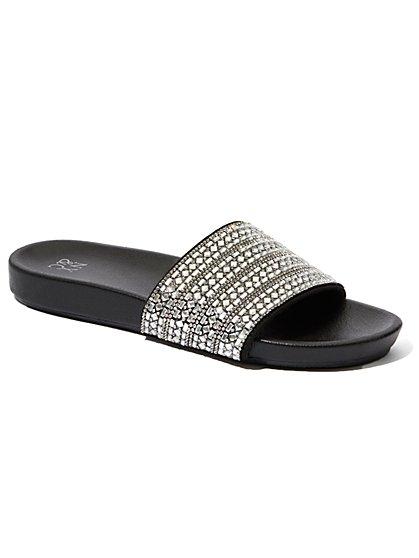 Sparkling Beaded Slide Sandal - New York & Company