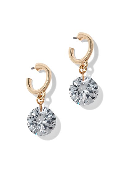 Sparkling Faux-Stone Drop Earring - New York & Company
