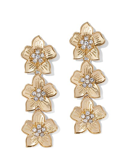 Sparkling Floral Drop Earring - New York & Company