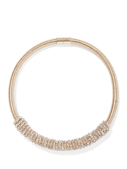 Sparkling Goldtone Coil Necklace - New York & Company