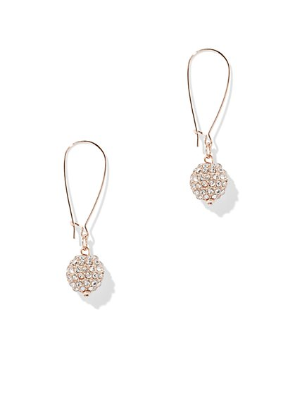 Sparkling Pave-Accented Spherical Drop Earring - New York & Company
