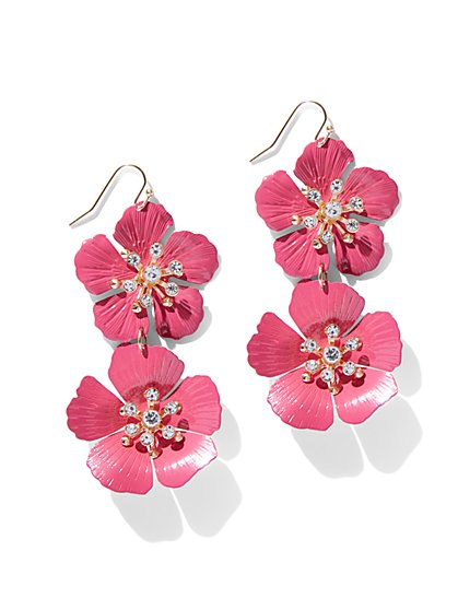 Statement Floral Drop Earring - New York & Company