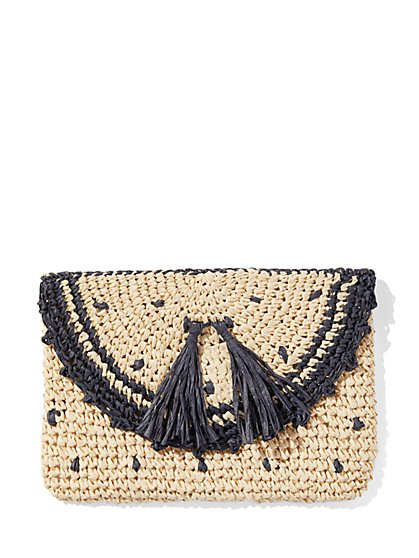 Straw Envelope Clutch Bag - New York & Company