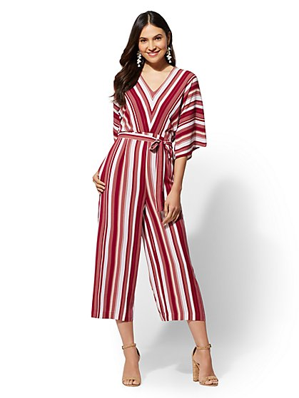 Stripe Culotte Jumpsuit - New York & Company