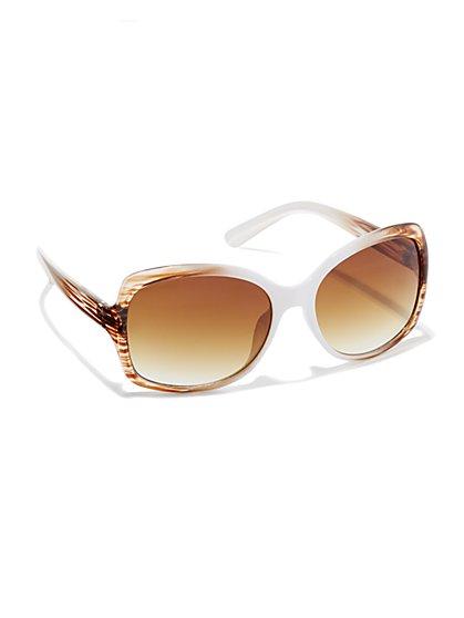 Stripe-Ombre Sunglasses - New York & Company