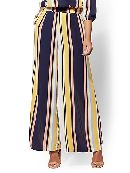Stripe Pull-On Palazzo Pant - New York & Company