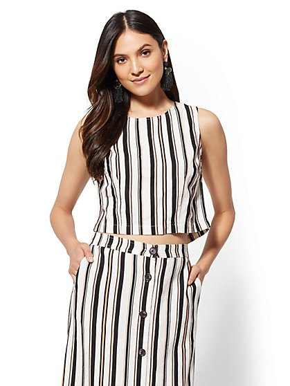 Stripe Sleeveless Top - New York & Company