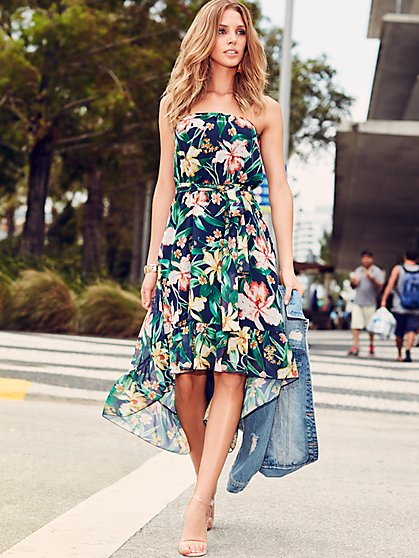 Sweet Pea - Floral Strapless Dress - New York & Company