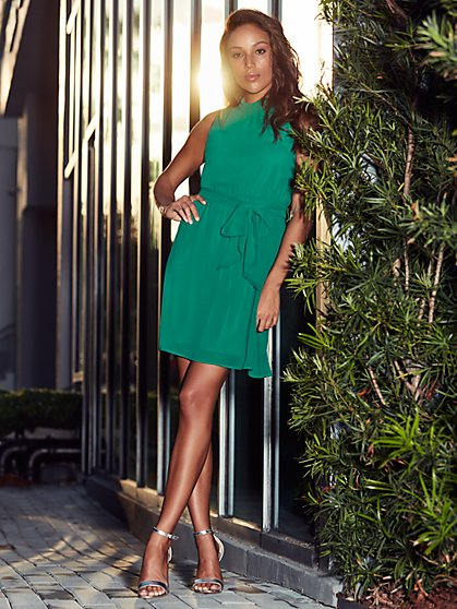 Sweet Pea - Green Shift Dress - New York & Company