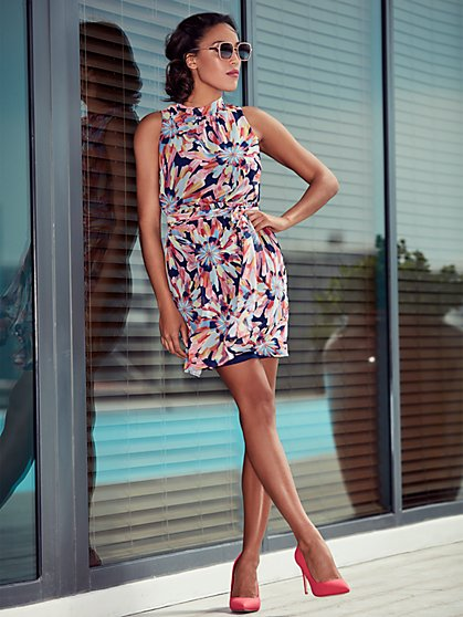 Sweet Pea - Navy Floral Shift Dress - New York & Company