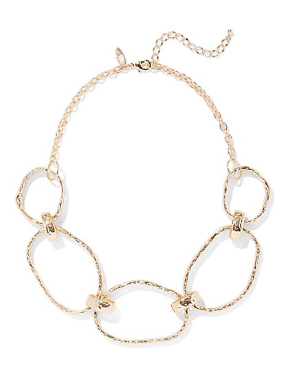 Textured Open Link Necklace - New York & Company