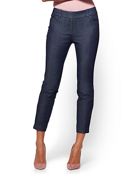 The Audrey Ankle Pant - Curvy - Navy - New York & Company