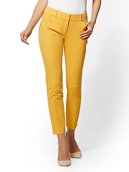 The Audrey Ankle Pant - Curvy - Solid - New York & Company