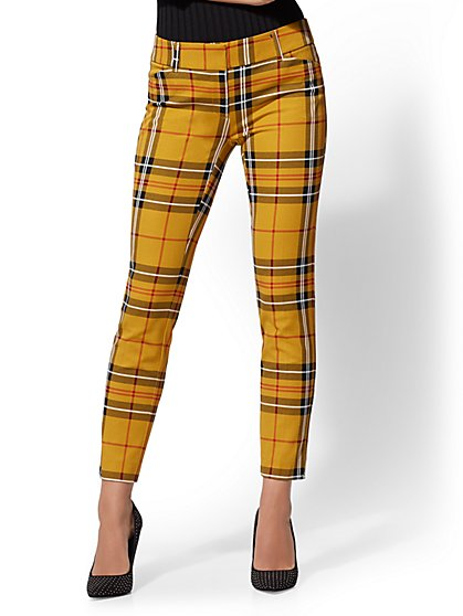 The Audrey Ankle Pant - Gold Plaid - New York & Company