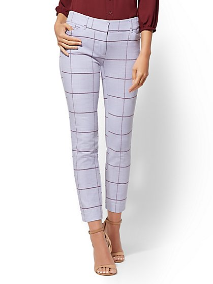 The Audrey Ankle Pant - Houndstooth - New York & Company