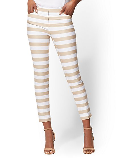 The Audrey Ankle Pant - Petite Slim Leg - Stripe - New York & Company