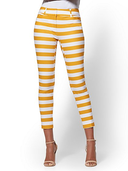 The Audrey Ankle Pant - Slim Leg -Stripe - New York & Company