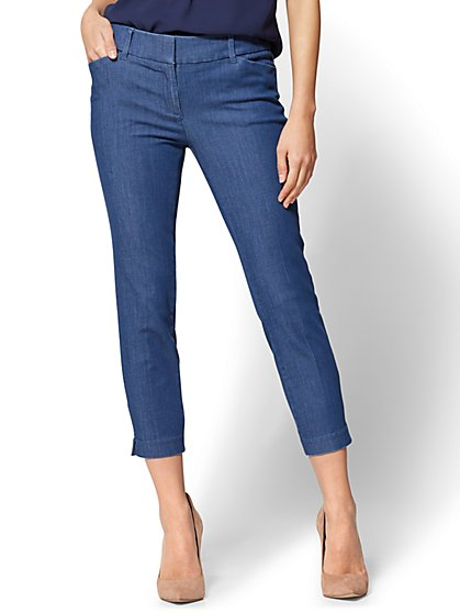 The Audrey Crop Pant - Denim - New York & Company