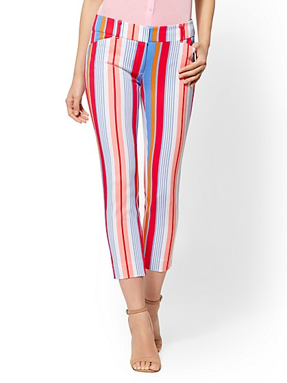 The Audrey Crop Pant - Multicolor Stripe - New York & Company