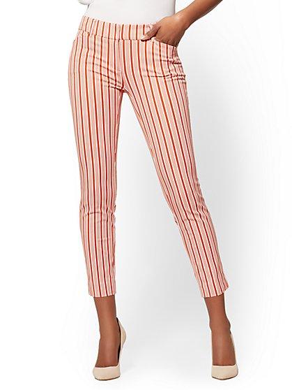 The Audrey Pant - Orange Stripe Slim Leg - New York & Company