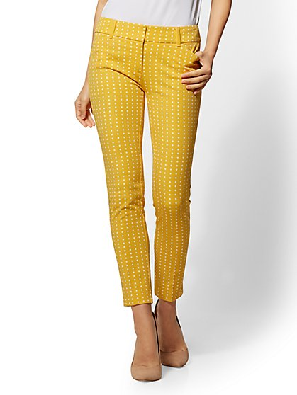 The Audrey Pant - Slim Leg - Yellow - Polka Dot - New York & Company