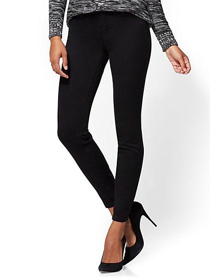 The Crosby Pant - Curvy Slim-Leg - Black - New York & Company