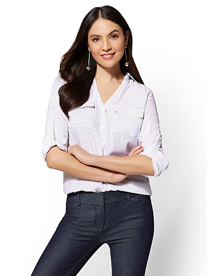 The Kate Shirt - Dot Print - New York & Company