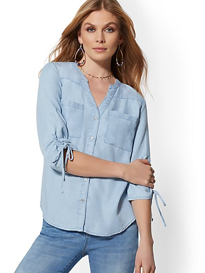 The Meghan Shirt - Ultra-Soft Chambray - New York & Company