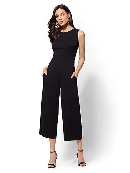 Tie-Back Culotte Jumpsuit - New York & Company