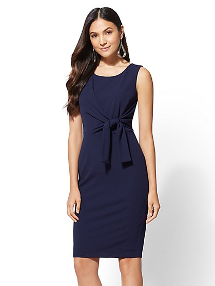 Tie-Waist Sheath Dress - New York & Company
