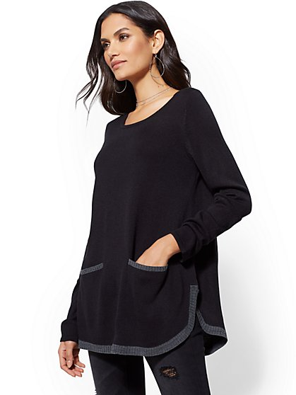 Tipped Tunic Sweater - New York & Company