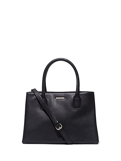 Top-Handle Faux-Leather Tote Bag - New York & Company
