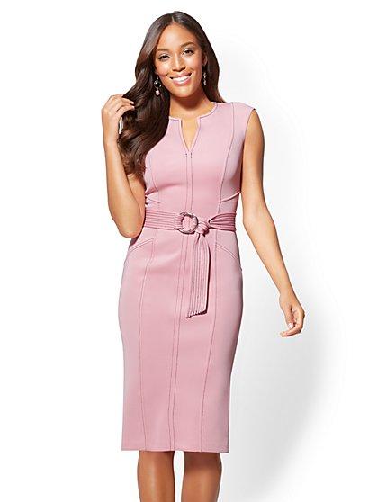 Topstitched Sheath Dress - New York & Company