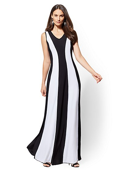 Two-Tone Maxi Dress - New York & Company