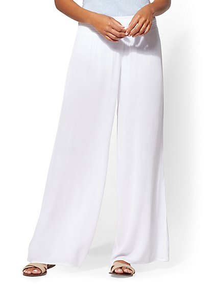 Wide-Leg Pull-On Pant - New York & Company