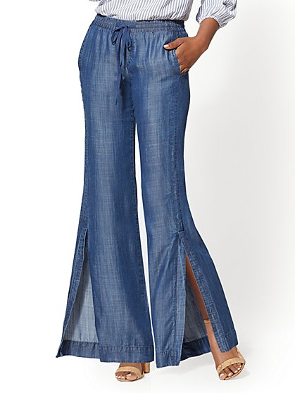 Wide-Leg Ultra-Soft Denim Pant - New York & Company