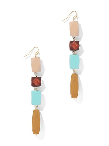 Wooden Bead Drop Earring - New York & Company