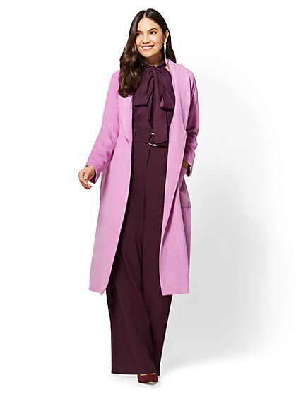 Wool Shawl-Collar Coat - New York & Company