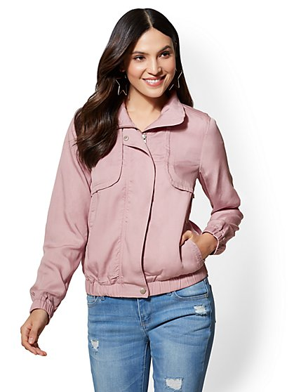 Zip-Front Jacket - Lilac - New York & Company