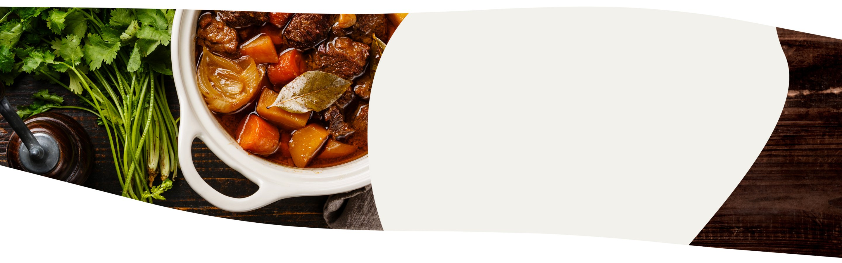 a banner of a slow cooker with food