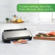 FoodSaver® VS3182 Multi-Use Vacuum Sealing & Food Preservation System, Stainless Steel, with FoodSaver Bags, Rolls, and Bonus Items image number 2